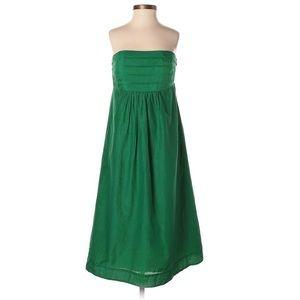 Banana Republic Silk Blend Strapless Green Dress 6